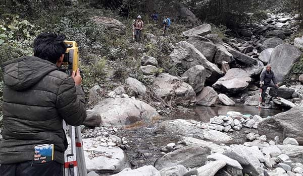 Topographical Survey of Upper Modi (18.2 MW) and Upper Modi A (48 MW) Hydroelectric Project