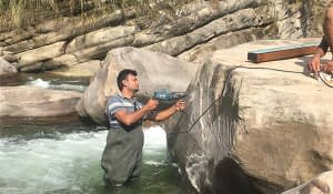 Discharge measurement of Dobhan Khola Hydropower Project