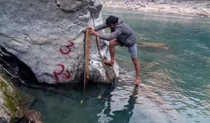 Staff Gauge Installation and Discharge Measurement of Bheri 4 Storage Hydropower Project