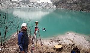 Bathymetric Survey of Kahpuche Glacier Lake